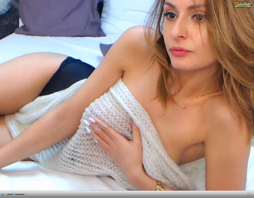 Screenshot of Serious Looking Busty Cam Model