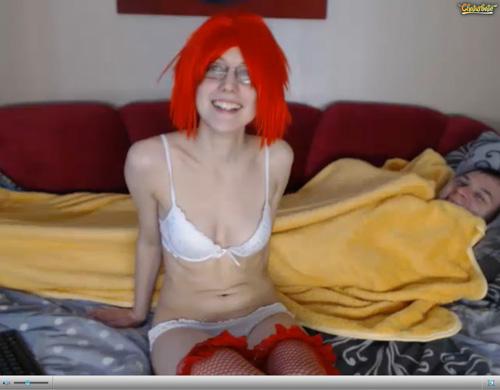 Screenshot of Fiery Webcam Redhead at Chaturbate.com