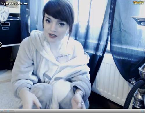 Screenshot of Brunette Cam Model in her Bathrobe