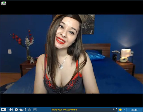 Screenshot of Sweet Asian Webcam Model