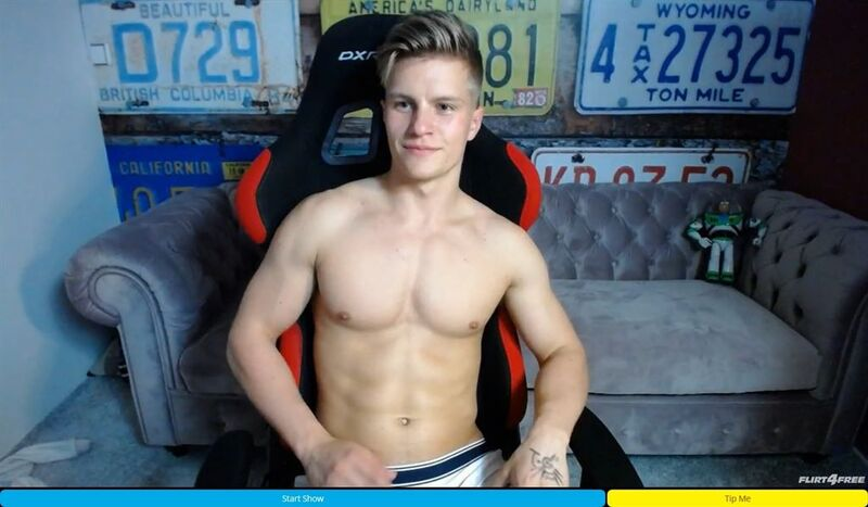Gorgeous toned US surfer bro on Flirt4Free