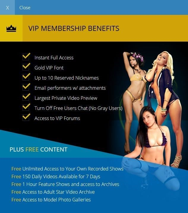 Registering as a Flirt4Free VIP comes with many benefits