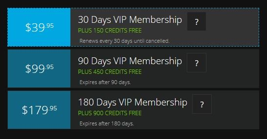 Flirt4Free's VIP membership subscriptions