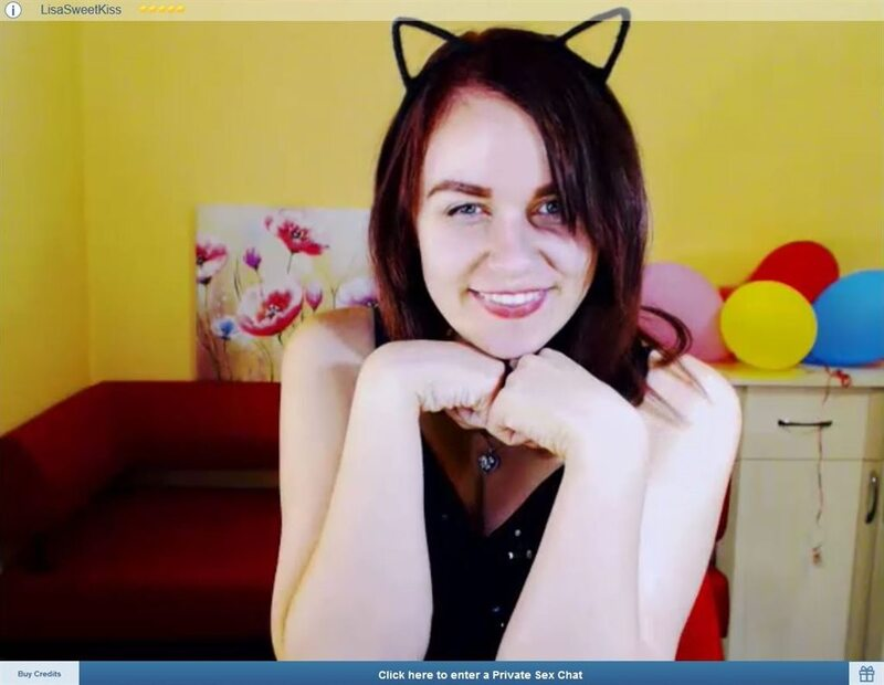 ImLive cute brunette with cat ears smiling to her viewers