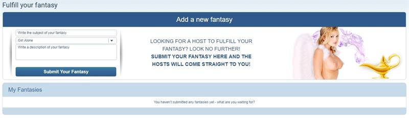 ImLive's Fulfill your Fantasy feature