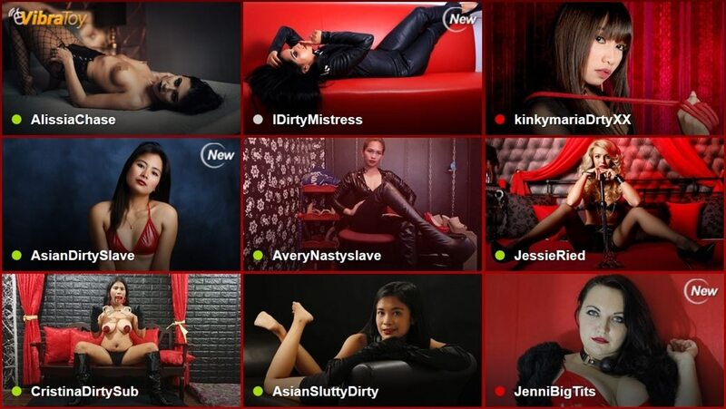 LiveJasmin's fetish cams section