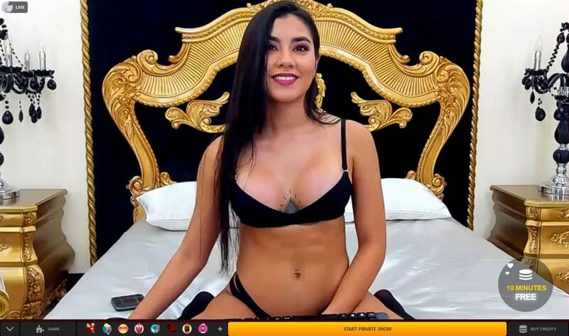 Hot Latina cam girl in bra and panties on LiveJasmin