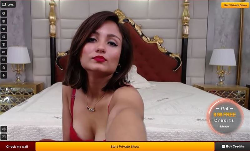 LiveJasmin sexy mature cam babe staring you down