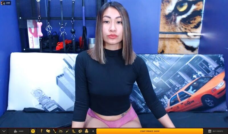 Hot Asian domme with stiff upper lip on LiveJasmin
