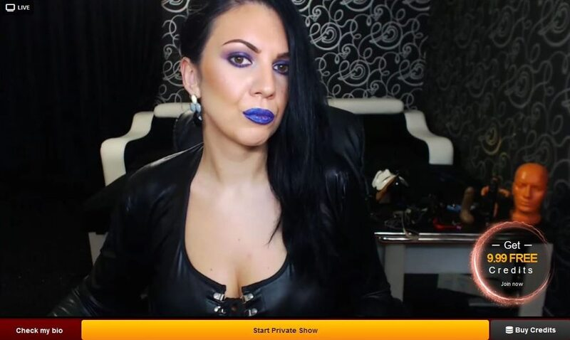LiveJasmin dominatrix giving CEI cam show