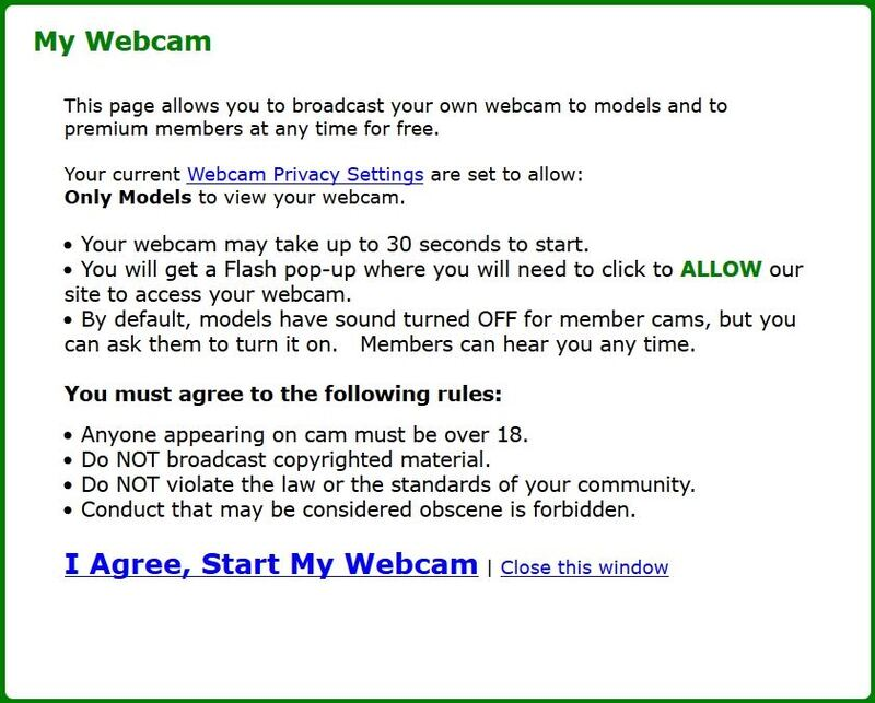 MyFreeCams cam2cam user agreement